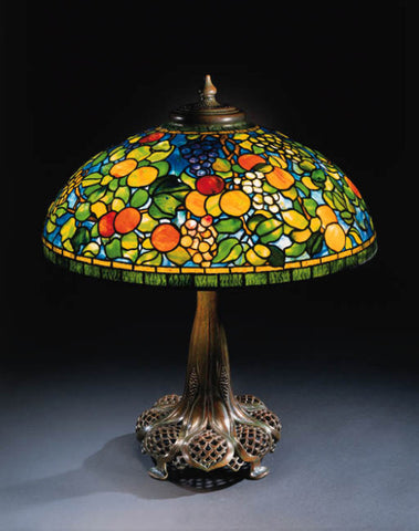 Fruit Lamp by Louis Comfort Tiffany