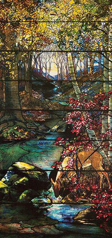 Gould Landscape Window by Louis Comfort Tiffany, 1910