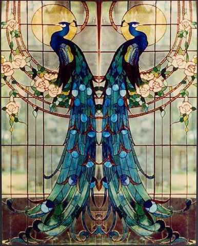Peacock window 1908 by Louis Comfort Tiffany