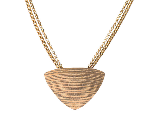 Cymbal Triangle Necklace