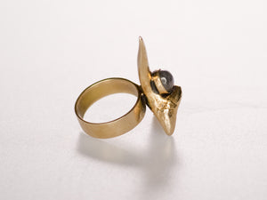 Shark Tooth Ring with Stone