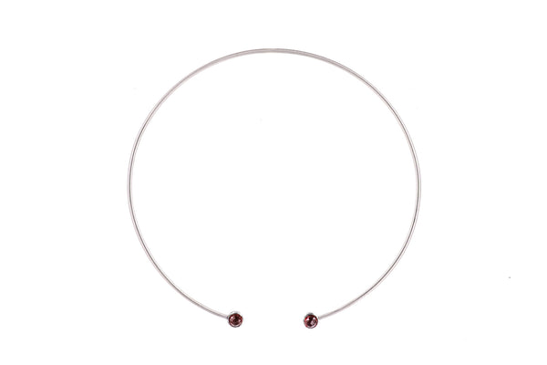 Simple Stone Choker, large and small