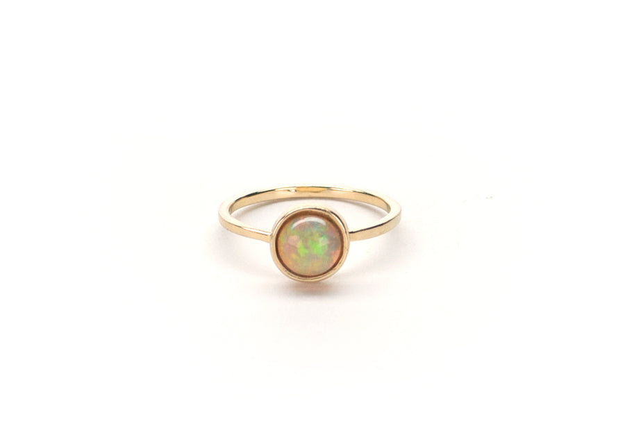 Opal Simple Stone Ring, 14k gold