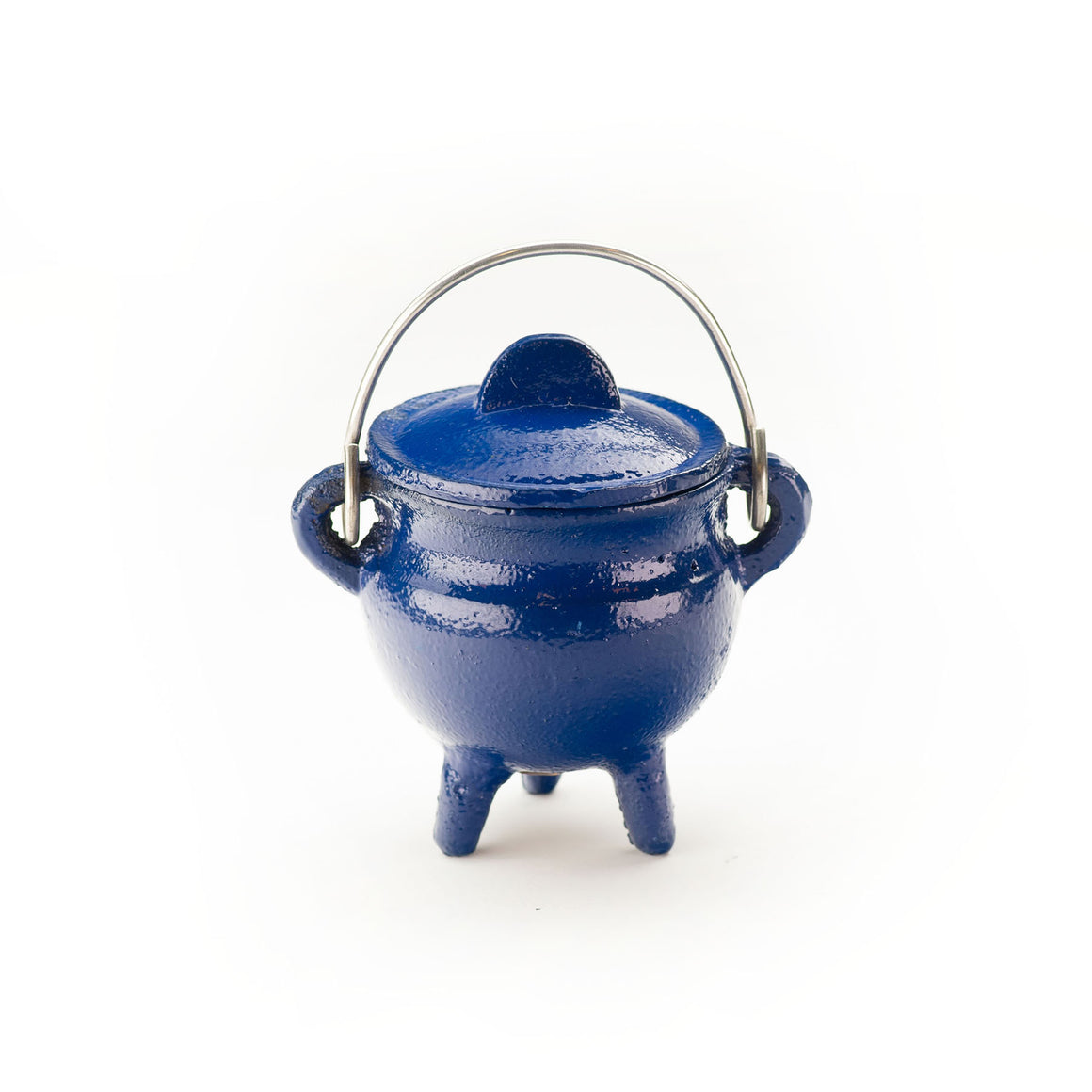 Cast Iron Cauldron, Blue