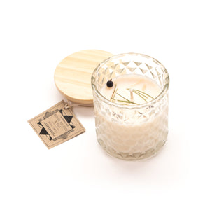 Winter Solstice & Yule Ritual Candle with Quartz and Herbs