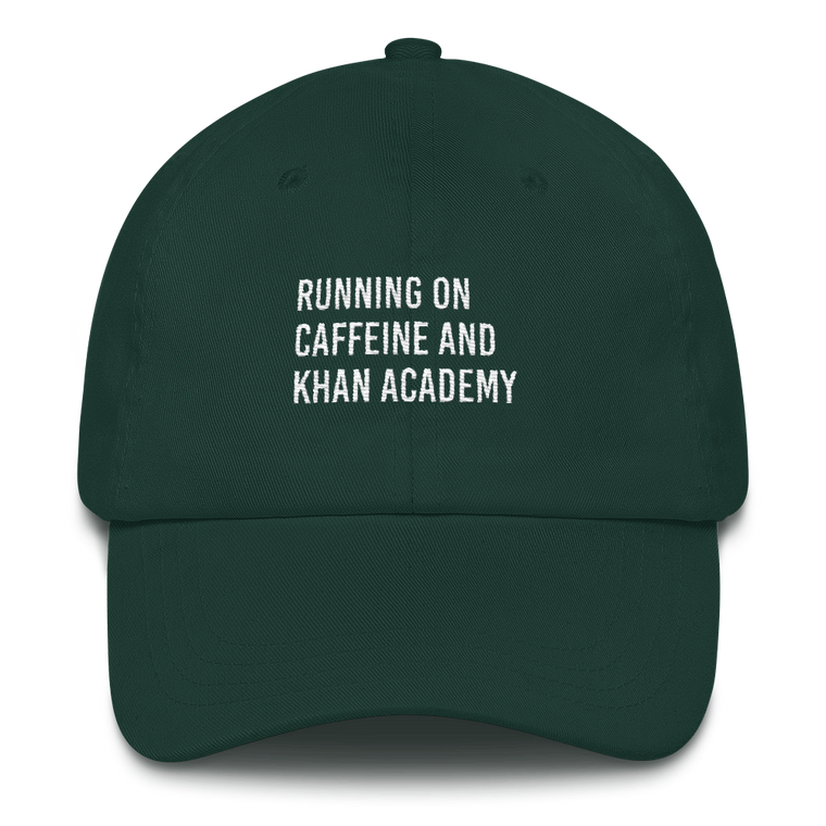 Running on Caffeine and Khan Academy Cap