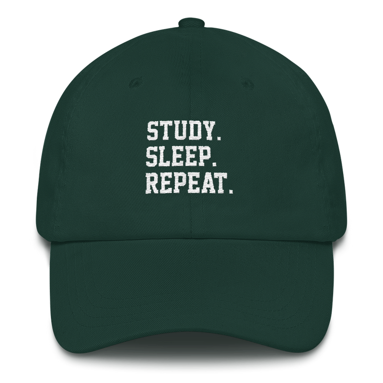 Study. Sleep. Repeat. Cap