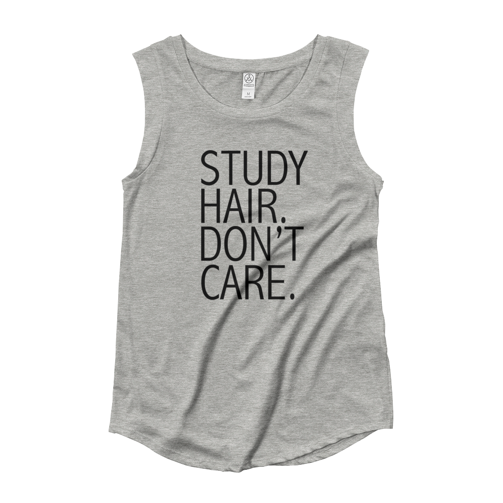 Study Hair Don't Care Tank