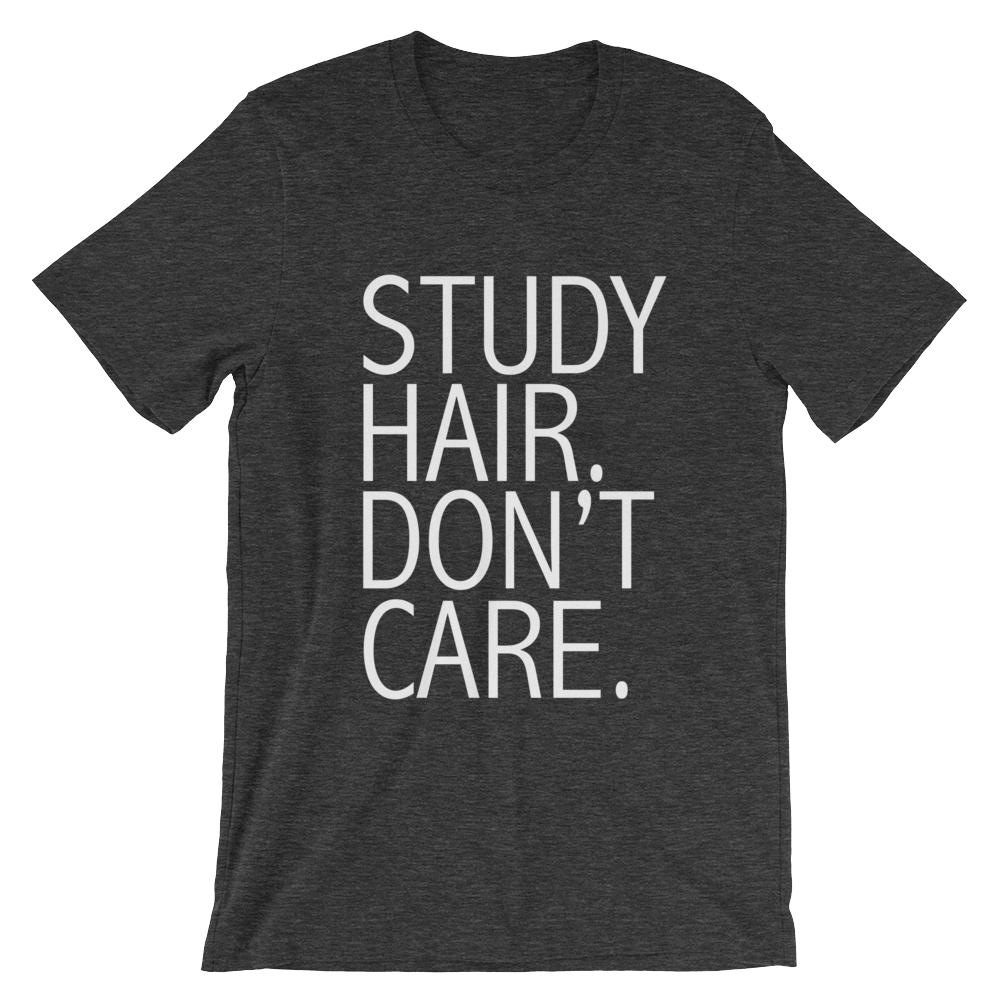 Study Hair Don't Care Cotton Tee