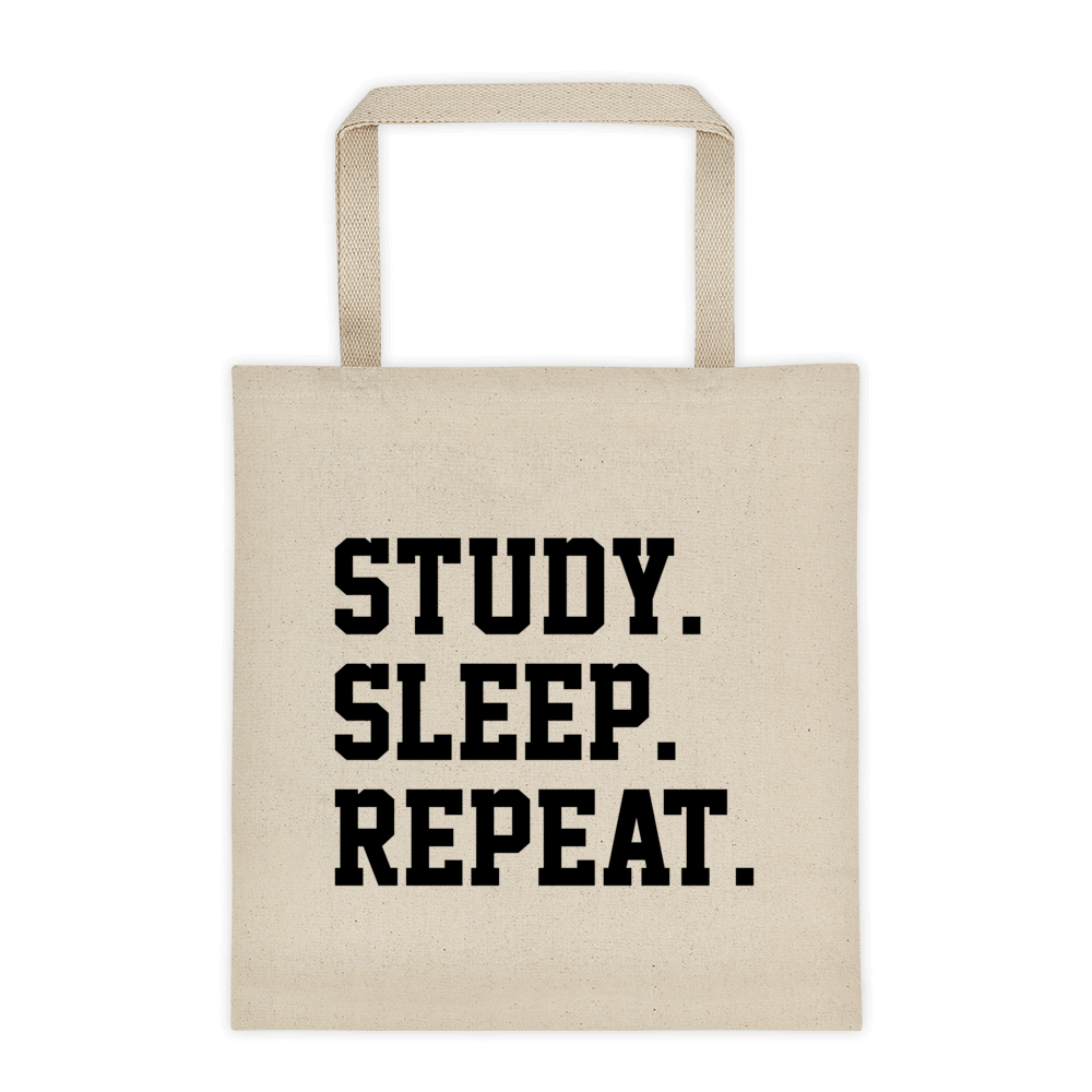 Study. Sleep. Repeat. Tote