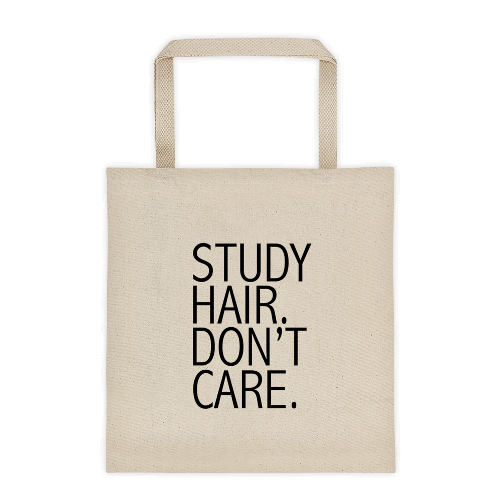 Study Hair Don't Care Tote