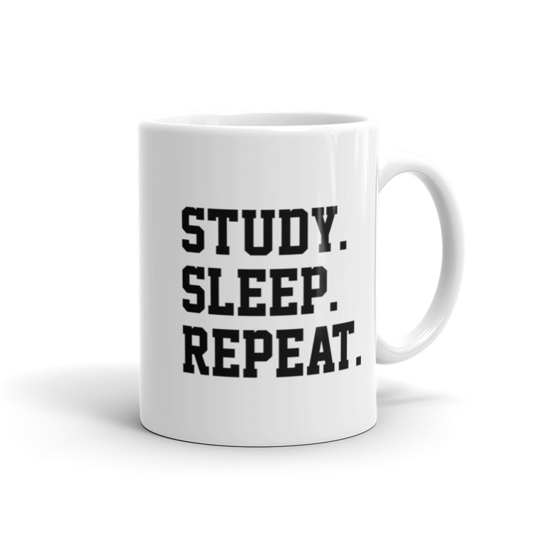 Study. Sleep. Repeat. Mug