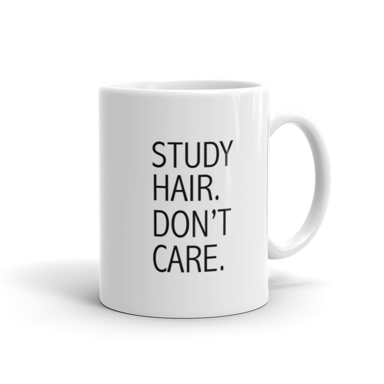 Study Hair Don't Care Mug