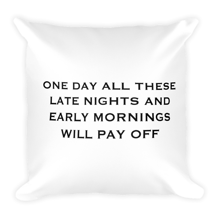 One Day Pillow