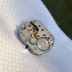 Steampunk cufflinks groomsmen gifts close up