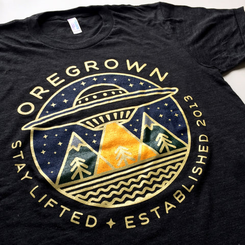 Oregrown Stay Lifted Tee - Charcoal Black