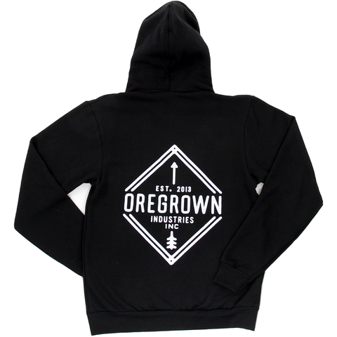 Oregrown Diamond Zip Up Hoodie- Black