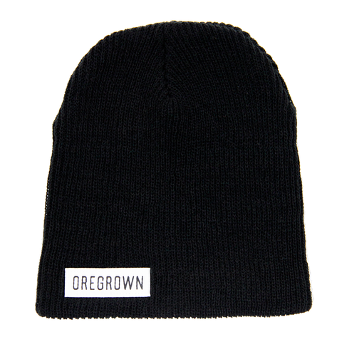 Oregrown Slouch Beanie- Black
