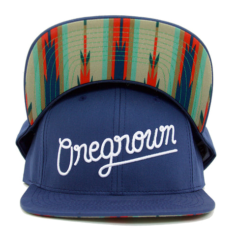 Oregrown Original Snapback- Navy Multi