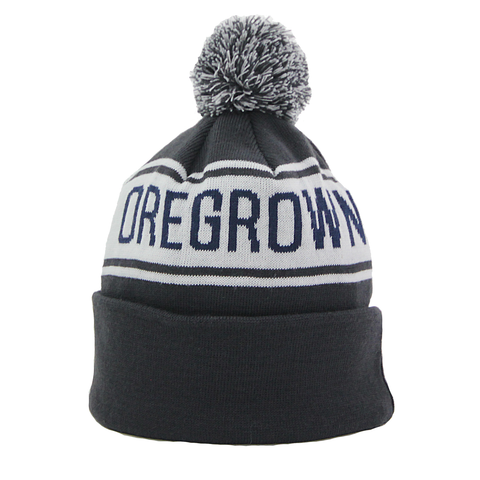 Oregrown Jacquard Knit Beanie - Navy