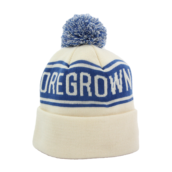 Oregrown Jacquard Knit Beanie - Ivory