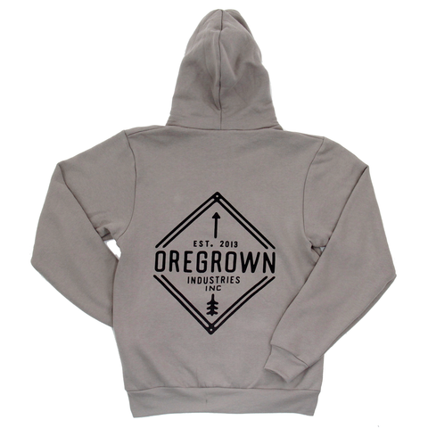 Oregrown Diamond Zip Up Hoodie- Taupe