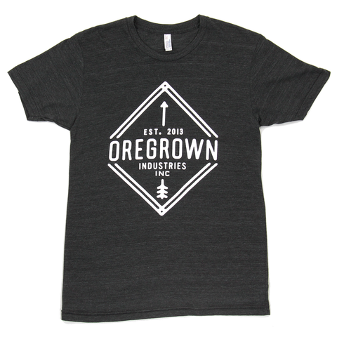 Oregrown Diamond Tee- Charcoal Black
