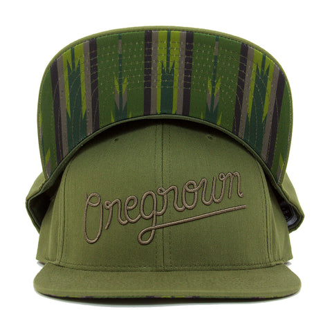 Oregrown Original Snapback- Army Green