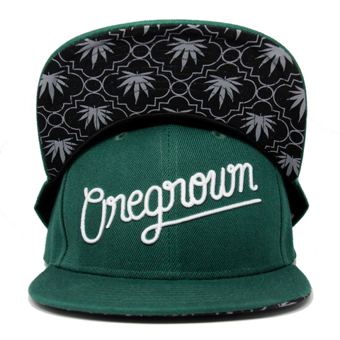 Oregrown Original Snapback- Forest Green