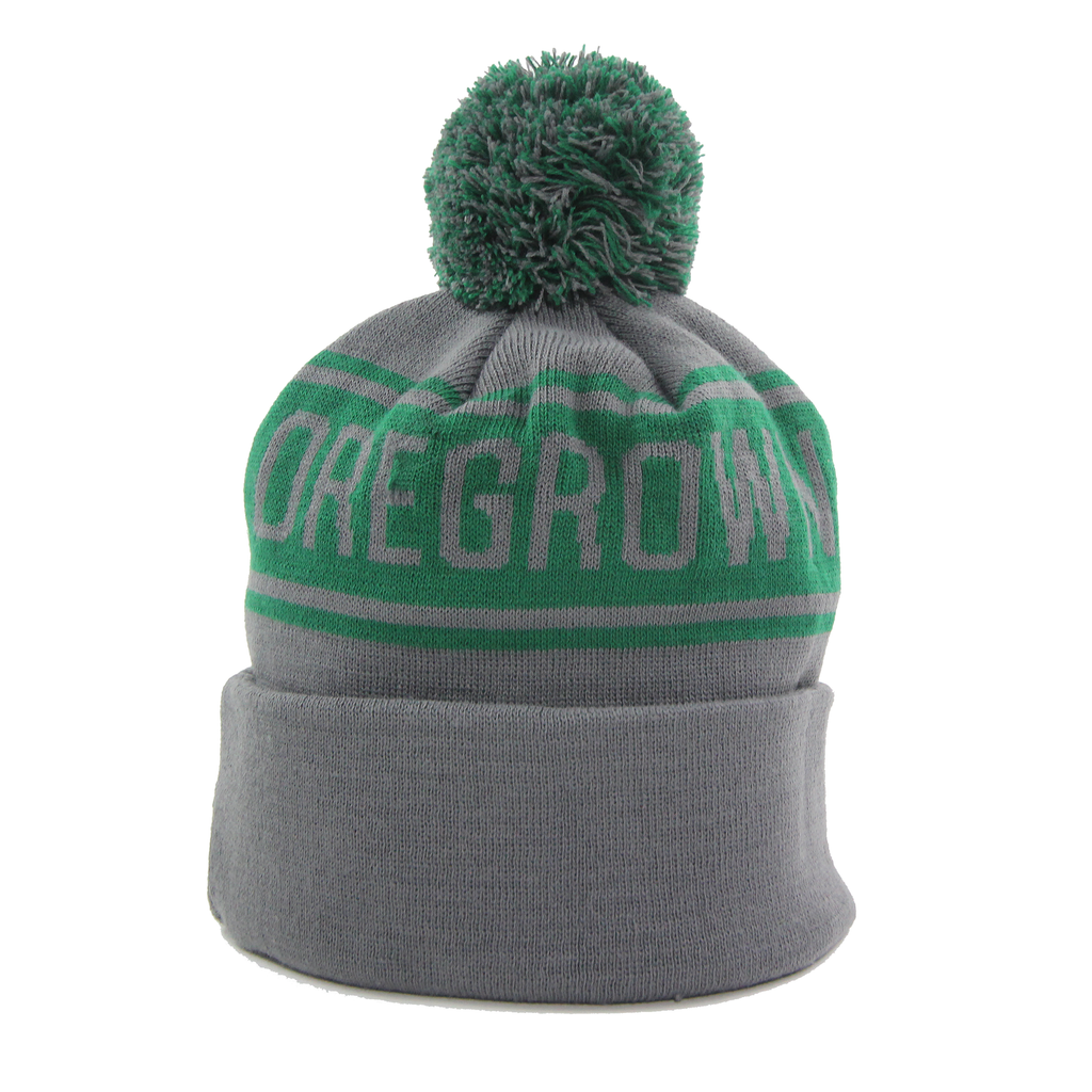 Oregrown Jacquard Knit Beanie - Green