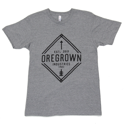 Oregrown Diamond Tee- Athletic Grey