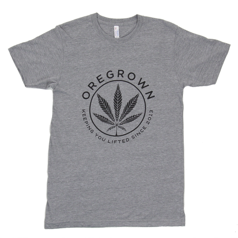 Oregrown Lifted Leaf Tee- Athletic Grey