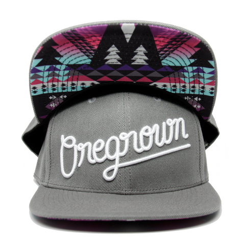 Oregrown Original Snapback- Dark Grey
