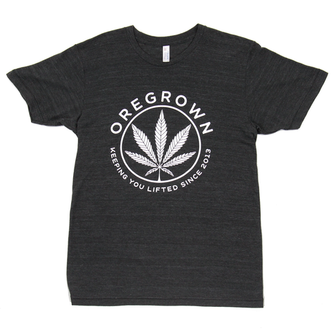 Oregrown Lifted Leaf Tee- Charcoal Black