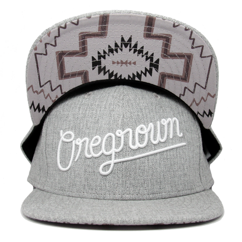 Oregrown Original Snapback- Light Grey