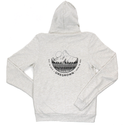 Oregrown Mountain Fade Zip Up Hoodie