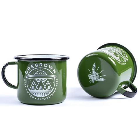 Oregrown Enamel Camp Mugs
