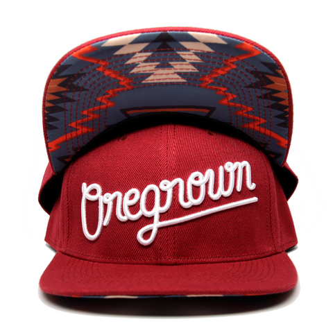Oregrown Original Snapback- Red