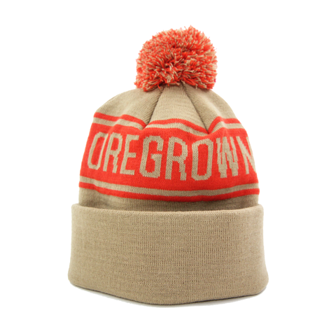 Oregrown Jacquard Knit Beanie - Red