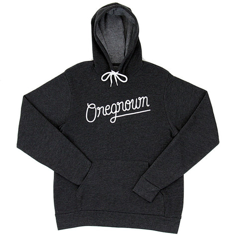 Original Oregrown Script Hoodie  - Charcoal Grey