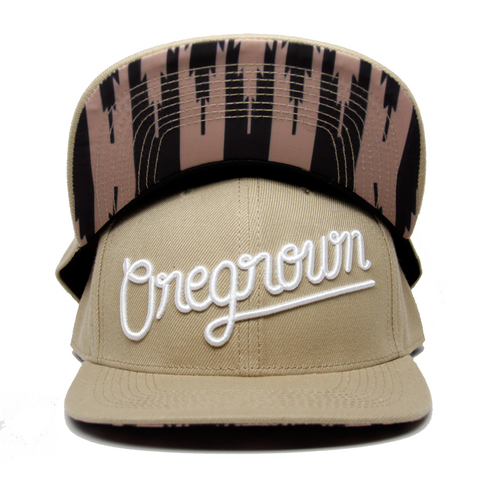 Oregrown Original Snapback- Tan