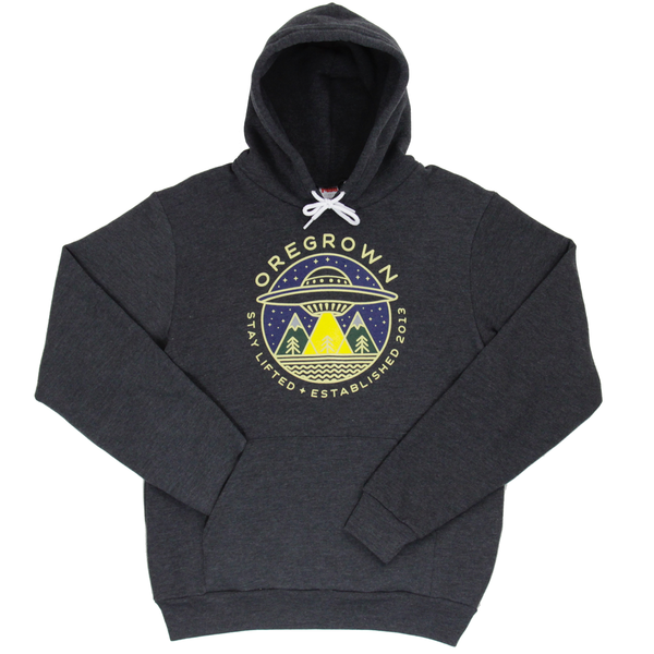 Pullover UFO Hoodie - Charcoal Grey