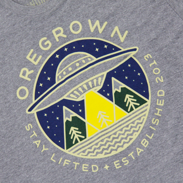 Oregrown Stay Lifted Tee - Athletic Grey