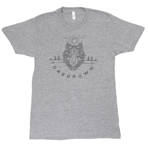 Oregrown Wolf Tee- Athletic Grey