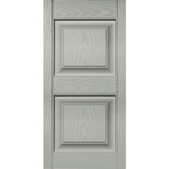 15 in. Vinyl Raised Panel Shutters