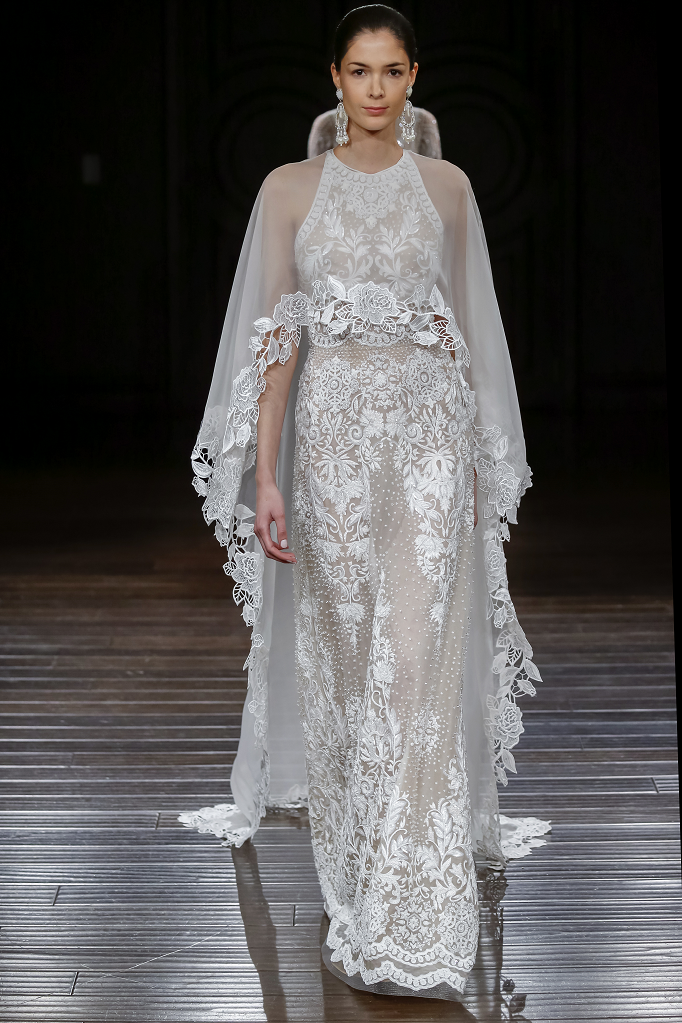 Naeem Khan Wedding Dresses Spring 2017 | Hand beaded jewel neck sleeveless gown and silk organza cap | itakeyou.co.uk #wedding #weddingdress #weddingdresses #weddinggown #bridalgown