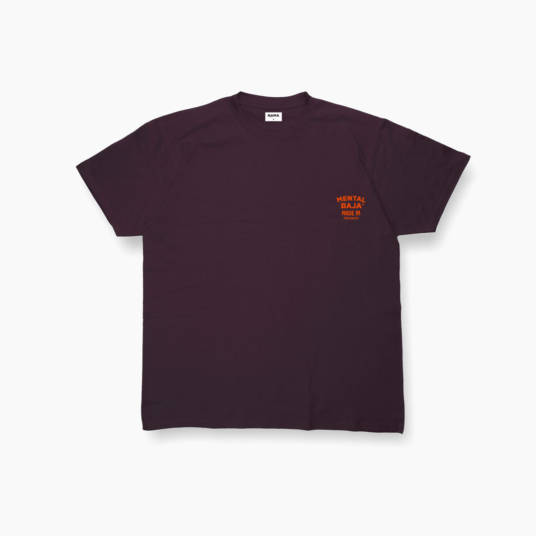 Mental Baja Tees Orange Chest