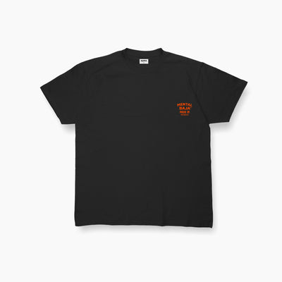 Black Mental Baja Tees Orange Chest