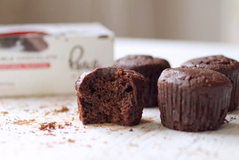 Double Chocolate Mini Muffins - PEACE A' CAKE