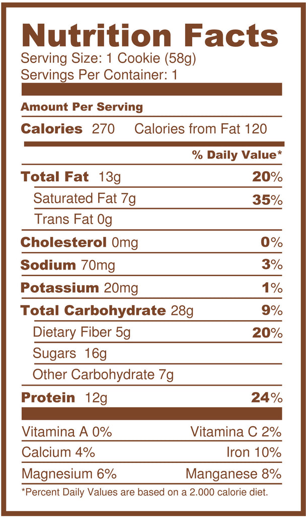 PRO+ Choco Chip REFUEL 12 unit pack (Each Cookie: $2.75)